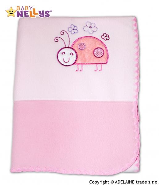 Dečka polar Baby Nellys ® LIENKA - sv.ružová / ružová