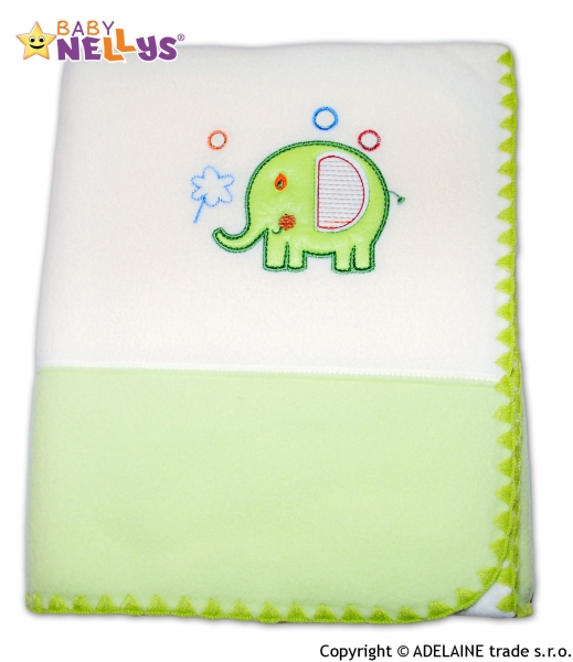 Dečka polar Baby Nellys ® SLON sv.zelená / smotana