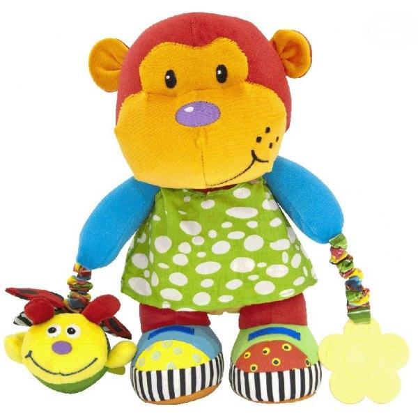 Edukačná hračka s vibrácií a hryzátkom - opička