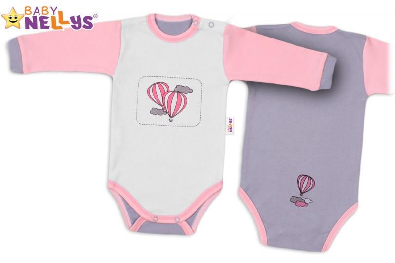 Body dlhý rukáv Baby Nellys ® - Balónik v ružovom
