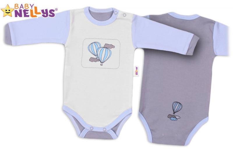 Body dlhý rukáv Baby Nellys ® - Balónik v modrej