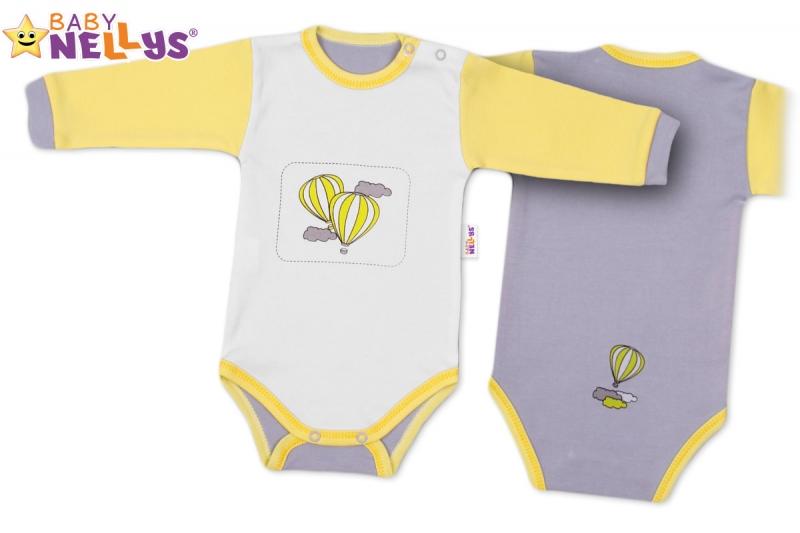 Body dlhý rukáv Baby Nellys ® - Balónik v žltej