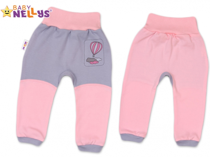 Tepláčky Baby Nellys ® Balónik v ružovej