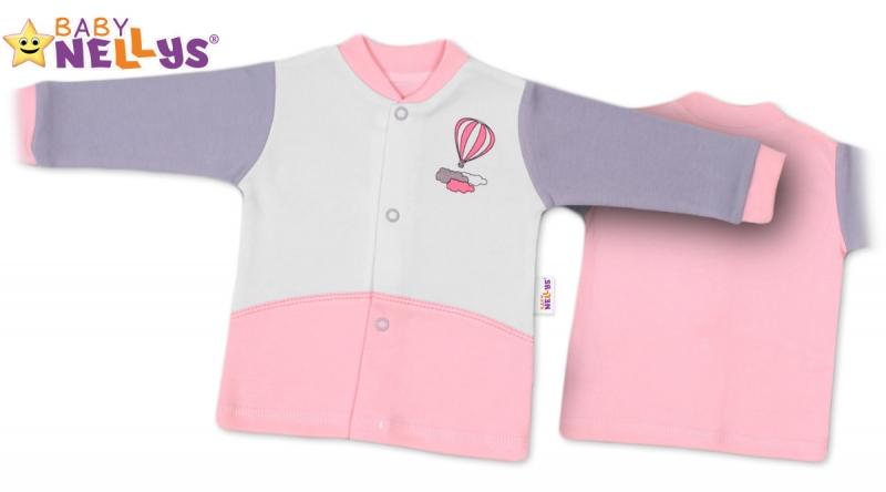 Košieľka Baby Nellys ® Balónik v ružovej, 62 (2-3m)