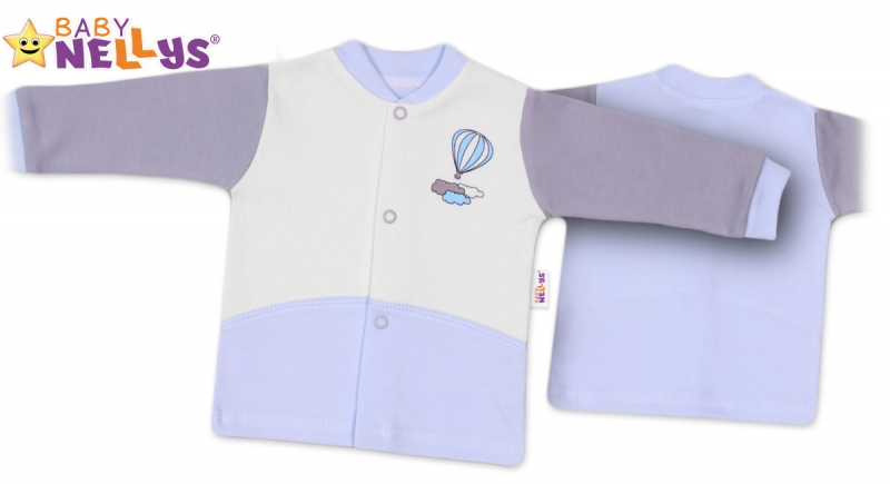 Košieľka Baby Nellys ® Balónik v modrej, 68 (4-6m)