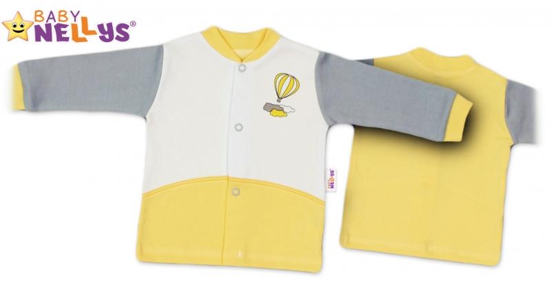 Košieľka Baby Nellys ® Balónik v žltej, 56 (1-2m)