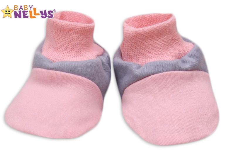 Topánočky / ponožtičky Baby Nellys ® - Balónik v ružovej