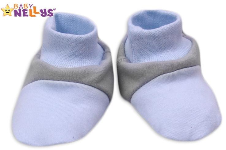 Topánočky / ponožtičky Baby Nellys ® - Balónik v modrej