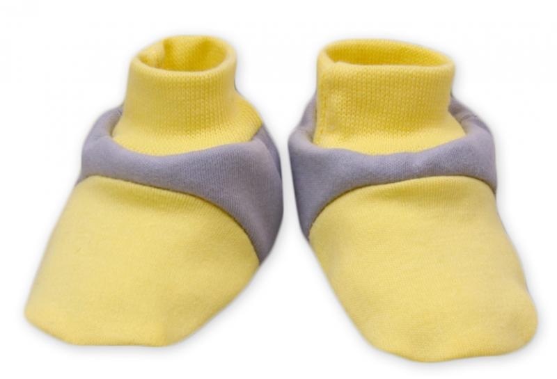 Topánočky / ponožtičky Baby Nellys ® - Balónik v žltej