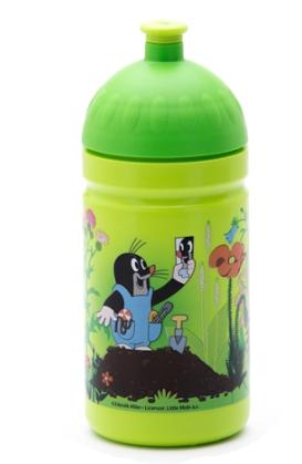 Zdravá fľaša - 0.5l - Krtko a nohavičky, zelená