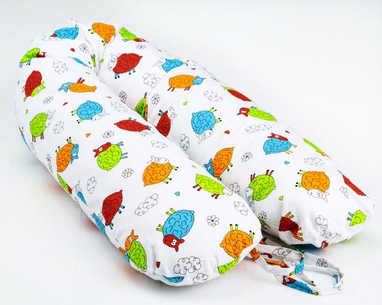 Dojčiace vankúš - relaxačné poduška Nellyska Multi - Farební baránkovia