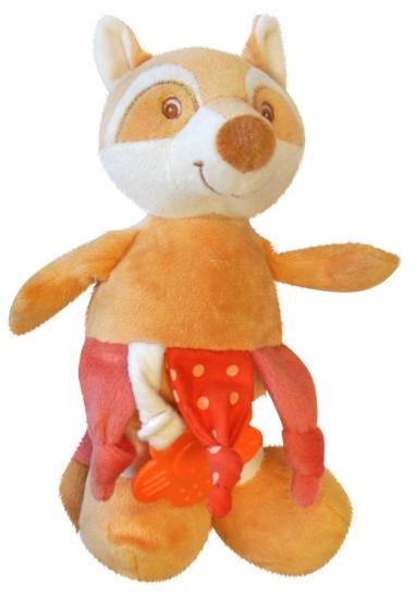 Bobo Baby Plyšová hračka s hrkálkou a hryzátkom -líšky