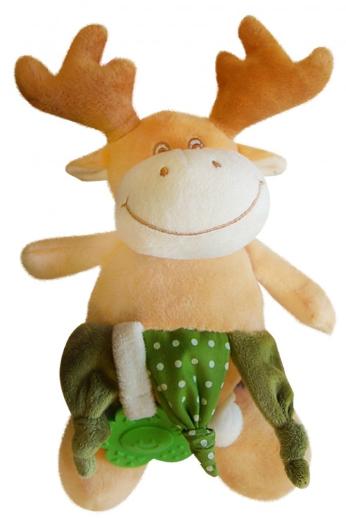 Bobo Baby Plyšová hračka s hrkálkou a hryzátkom - Losík