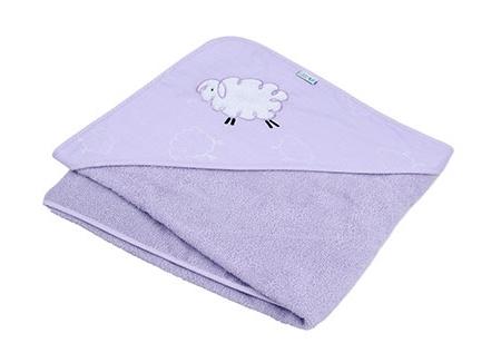 Osuška s kapucňou - Ovečka Fluffy - lila