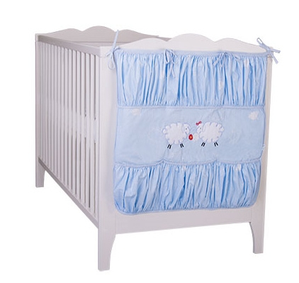 Vreckár Ovečka Fluffy - modrý