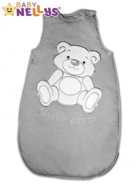 Spací vak Medvedík Teddy Baby Nellys - šedá veľ. 0+