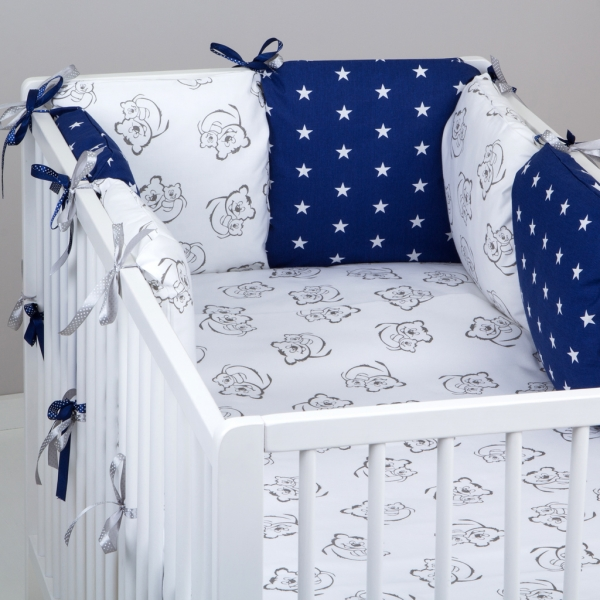 Mantinel Baby Nellys ® - vankúšikový s obliečkami vzor č. 345321