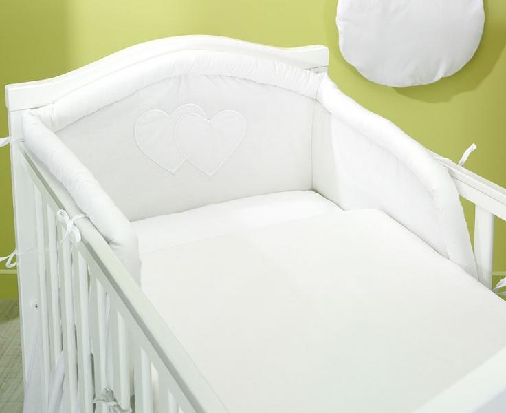 Bavlnené obliečky Srdiečko biele