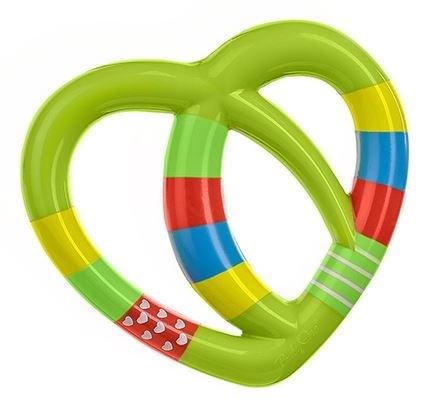 Edukačná hračka - hrkálka - SRDIEČKO zelené