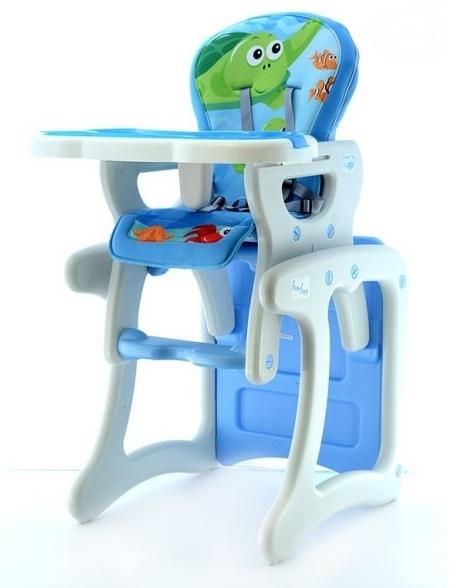 Euro Baby Jedálenský stolček 2v1 - Modrý oceán, K19
