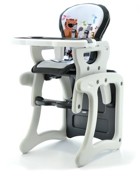 Euro Baby Jedálenská stolička 2v1 - Šedý kocúr, K19