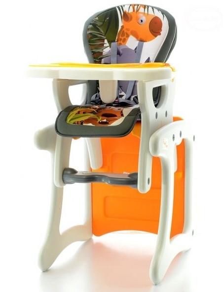 Euro Baby Jedálenský stolček 2v1 - Žirafa oranžová, K19