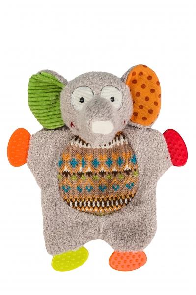 Edukačná hračka Baby Ono - hrkálka Slon, sloníča