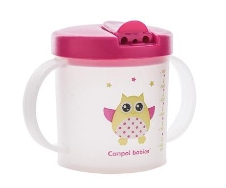Hrnček Canpol Babies so zaťahovacím náústem 9m +, Malá sova