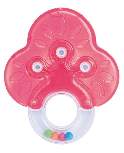 Hryzátko s hrkálkou Canpol Babies - Stromček - červený