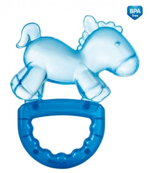 Hryzátko s hrkálkou Canpol Babies - Koník - modrý
