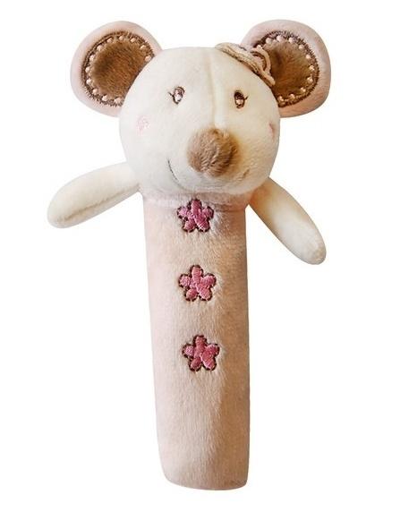 Edukačná hračka Bobo Baby - pískatko - Myška ružová