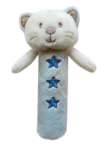 Edukačná hračka Bobo Baby - pískatko - Mačička modrá