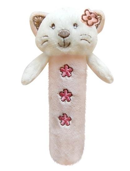 Edukačná hračka Bobo Baby - pískatko - Mačička ružová