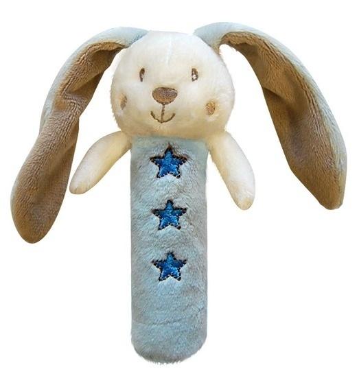 Edukačná hračka Bobo Baby - pískatko - Zajačik modrý