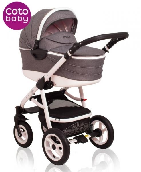 Kočík Aprilia Coto Baby 2v1 - ľan grey