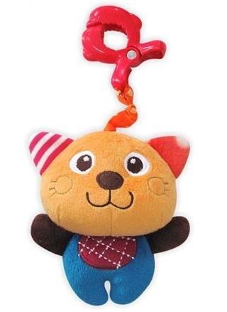 Plyšová hračka BABY MIX s hrkálkou - Kocourek