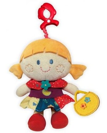 Závesná plyšová hračka s hudbou BABY MIX - Dievčatko