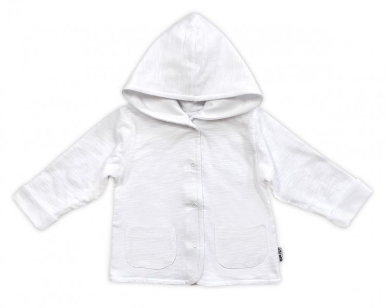 Bundička / kabátik NICOL ELEGANT BABY BOY, vel. 80, biela