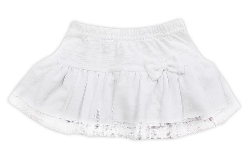 Tutu suknička NICOL ELEGANT BABY GIRL - mašlička, vel. 74, biela