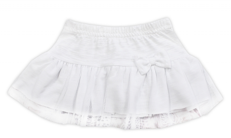 Tutu suknička NICOL ELEGANT BABY GIRL - mašlička, vel. 98, biela-98 (24-36m)