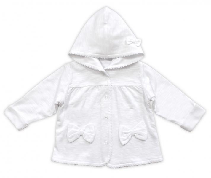Bundička / kabátik NICOL ELEGANT BABY GIRL, vel. 98, biely