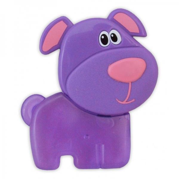 BABY MIX Hryzátko gélové - Psík fialový