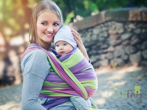 Little FROG Tkaný šatka na nosenie detí - Alexandria-XL (42)