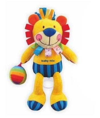 Plyšová hračka BABY MIX s hracím strojčekom - Lev žltý