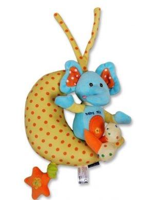 Plyšová hračka BABY MIX s hracím strojčekom - Sloníča na nechtíka