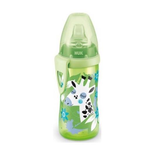 Fľaštička NUK Active Cup 300 ml Žirafa - zelená