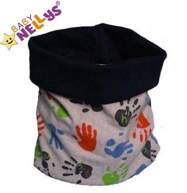 Nákrčník / komín s ručičkami Baby Nellys ® - sivý