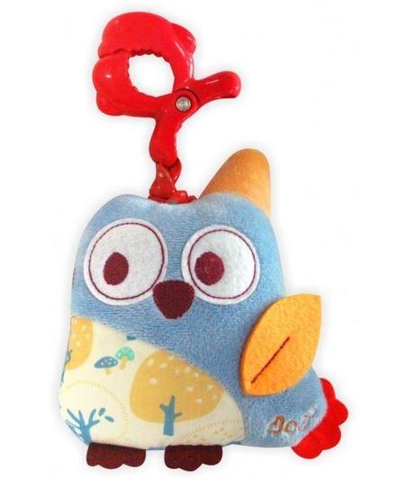 BABY MIX Plyšová hračka nielen do kočíka s hudbou - Sova