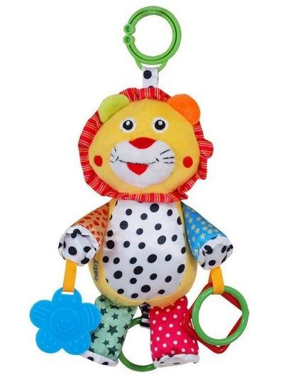 BABY MIX Plyšová hračka nielen do kočíka s hudbou - Lev