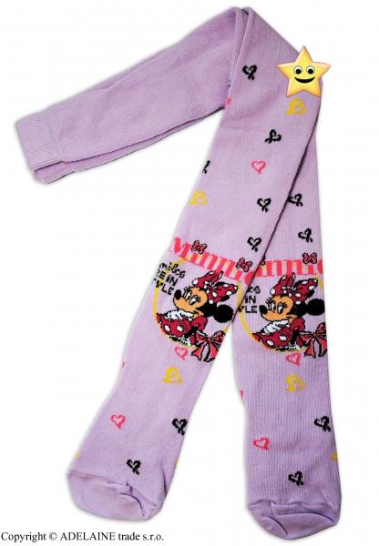 Bavlnené pančucháčky Disney Minie v šatôčkach - lila
